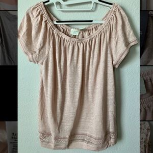 St. Tropez West Linen Short Sleeve Blouse
